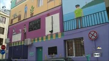 Младежи превърнаха фасадата на 150-годишна сграда в шедьовър
