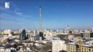 Срутиха телевизионната кула в руския град Екатеринбург