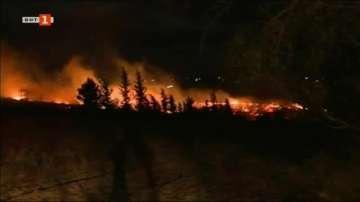 Горски пожар бушува на Халкидики