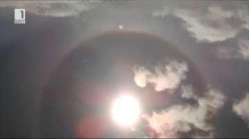 Слънце с ореол над Рила