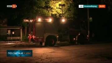 Пожар в сграда на бившо училище в Русе вдигна огнеборците на крак
