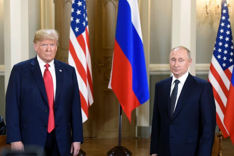 В президентския дворец в Хелзинки Доналд Тръмп и Владимир Путин