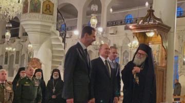 Владимир Путин на изненадващо посещение в Дамаск