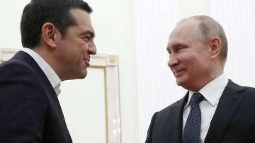 Путин и Ципрас преговарят в Кремъл
