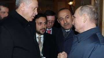 Ердоган и Путин на опера в Москва