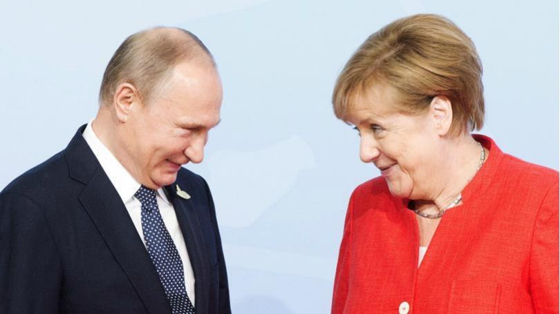 Германският канцлер Ангела Меркел поздрави днес руския президент Владимир Путин