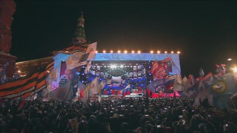 Владимир Путин беше преизбран за президент на Русия. На Манежния