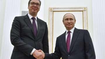 Сръбският президент Вучич на среща с руския президент Путин
