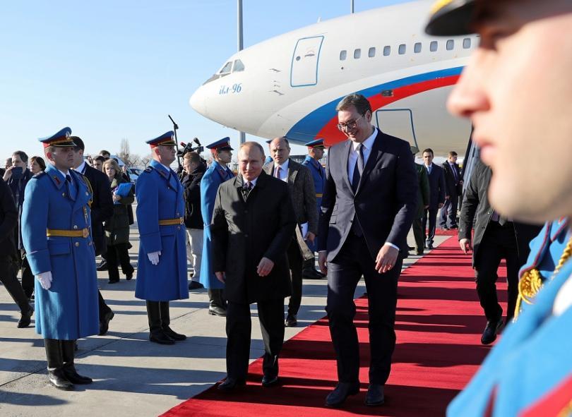 Снимка: Владимир Путин пристигна на посещение в Сърбия