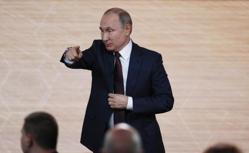 Руският президент Владимир Путин отговори на 77 въпроса по време