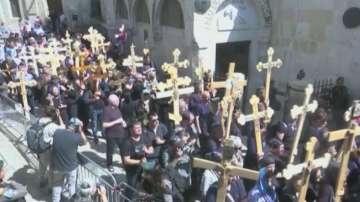 Хиляди православни християни се събраха в Ерусалим на Разпети петък
