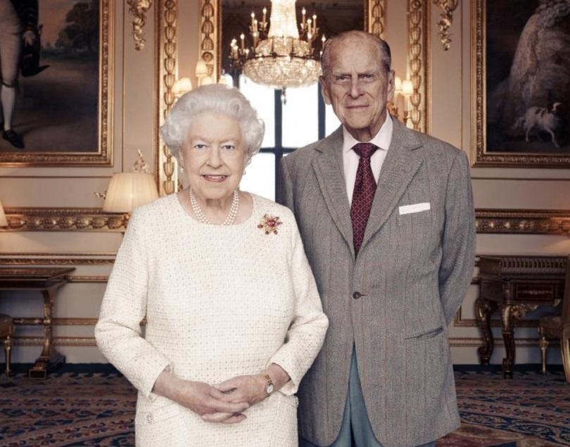 снимка 1 Кралица Елизабет и принц Филип празнуват 70 г. брак