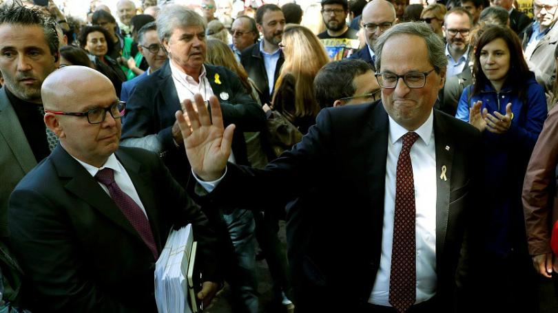Лидерът на Каталуния - Ким Тора, се яви във Върховния