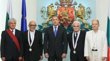 Президентът връчи високи държавни отличия на четирима изтъкнати българи