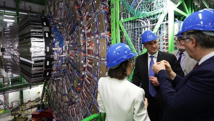 Българският президент Румен Радев посети Европейската централа за ядрени изследвания