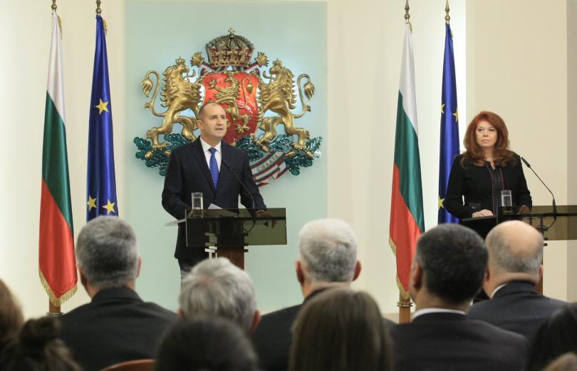 Президентът Румен Радев отчета своята трета годишнина от встъпването си