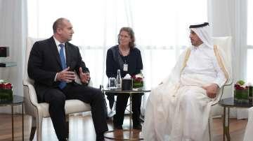 Президентът Радев обсъди високотехнологични проекти с емира на Катар