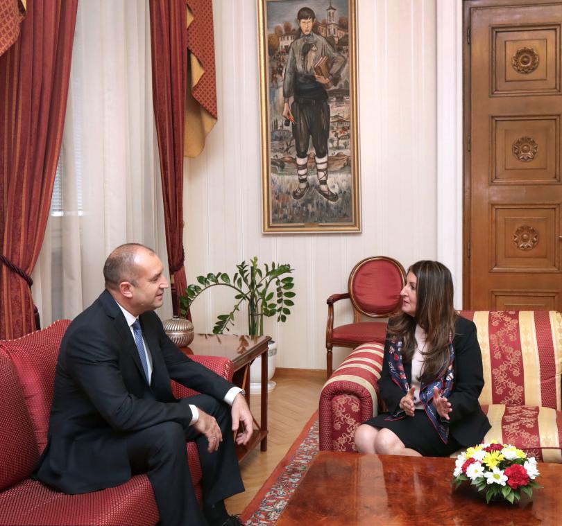 снимка 1 Румен Радев се срещна с посланика на САЩ у нас Херо Мустафа