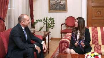 Румен Радев се срещна с посланика на САЩ у нас Херо Мустафа