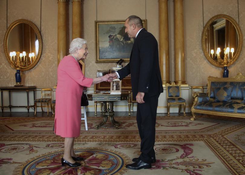 Президентът Румен Радев днес беше на аудиенция при Нейно Величество