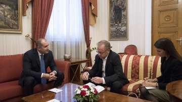 Румен Радев се срещна с генералния секретар на Репортери без граници