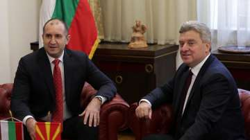 Румен Радев на посещение в Скопие