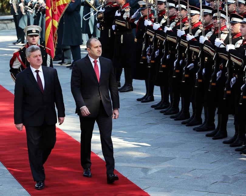Президентът Румен Радев е на двудневно посещение в Скопие по