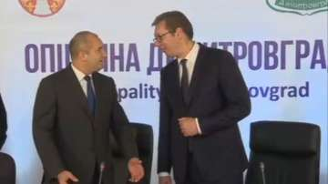 Радев и Вучич посетиха сръбския Димитровград
