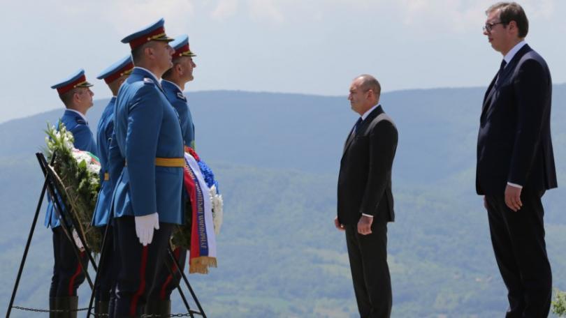 снимка 1 Президентите Радев и Вучич посетиха българите от Западните покрайнини