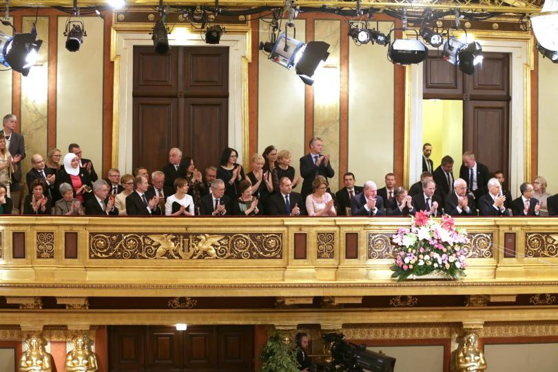 снимка 7 Румен Радев бе почетен гост на Новогодишния концерт на Виенската филхармония