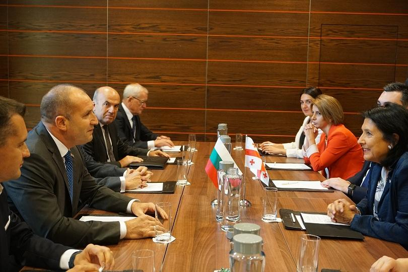 българия грузия работят увеличаване свързаността обмена туризма