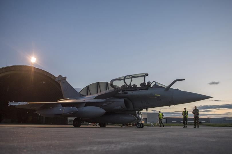 """Изтребител """"Рафал"""" от състава на Френските ВВС"""