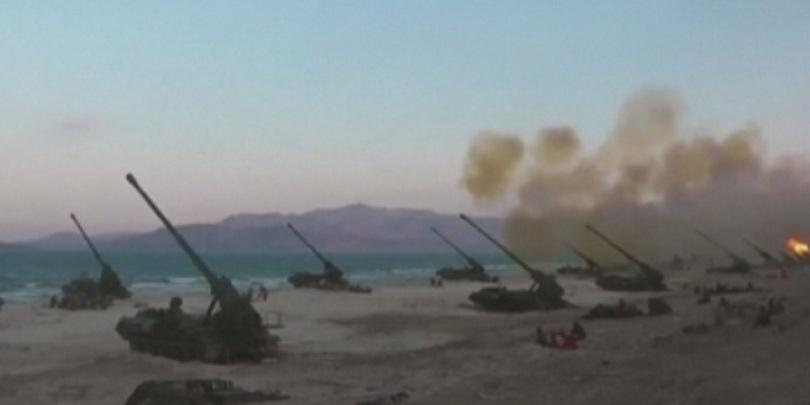 ракетите изстреляни пхенян симулирали ядрен удар сеул