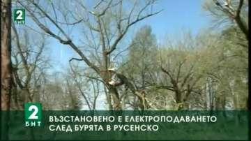 Възстановено е електроподаването след бурята в Русенско