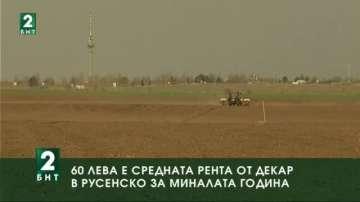 60 лева е средната рента от декар земеделска земя в Русенско за миналата година