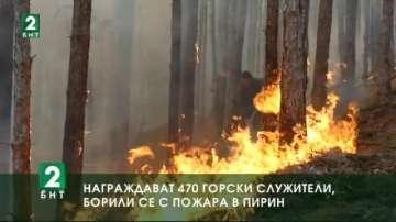 Награждават 470 горски служители, борили се с пожара в Пирин