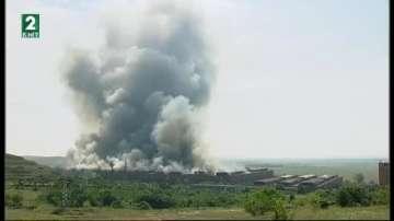 Поредният пожар на сметището в Шишманци е овладян