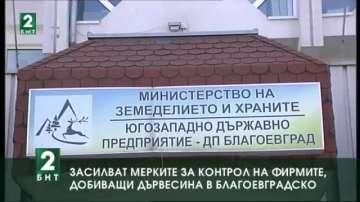 Засилват мерките за контрол на фирмите, добиващи дървесина в Благоевградско