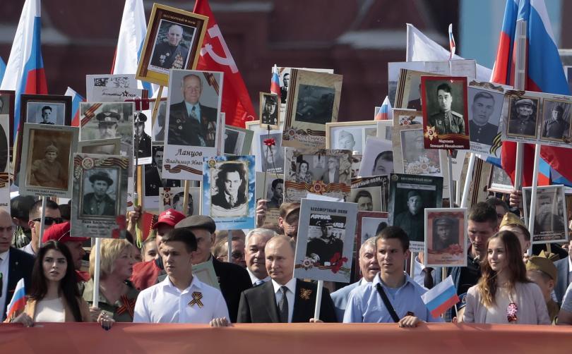 снимка 6 В Москва се проведе традиционният парад за Деня на победата (СНИМКИ)