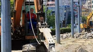 """Започва реконструкция на трамвайния път по улица """"Каменоделска"""""""
