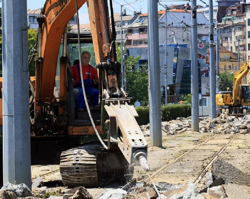 започва реконструкция трамвайния път улица каменоделска