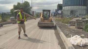Дъждовното лято бави ремонтите в София