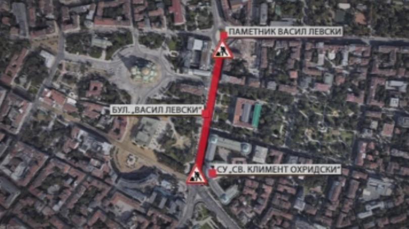 Нови ремонти на булеварди и улици променят движението в центъра