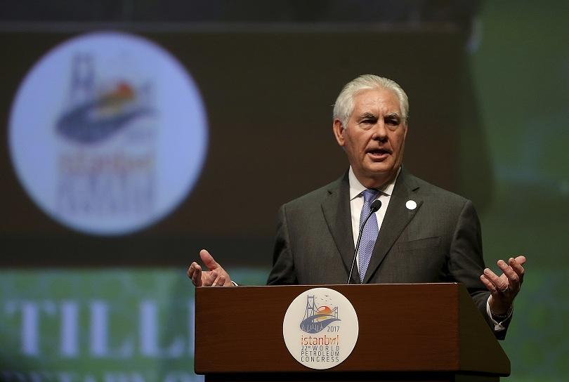 Американският държавен секретар Рекс Тилърсън заяви, че Вашингтон има пълно