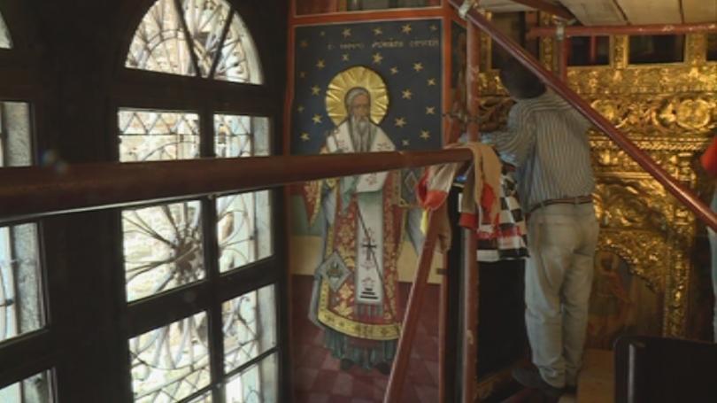 снимка 1 Започна реставрацията на иконостаса в параклиса на Рилския манастир