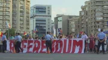 Антиправителствен протест в Букурещ