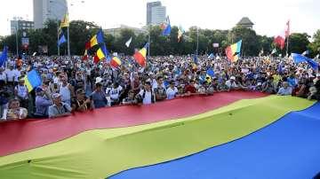 Многохиляден антиправителствен протест в Румъния
