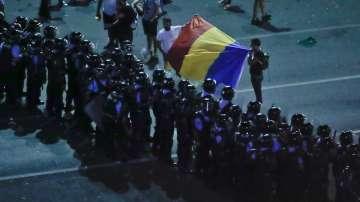За четвърта вечер протестиращи излязоха на Площада на победата в Букурещ