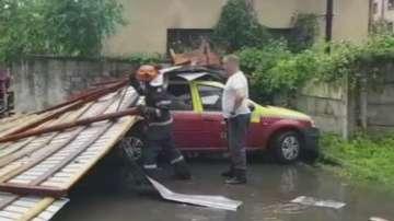 Бури и поройни дъждове в Румъния