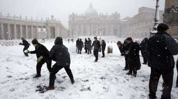 Студена вълна обхвана Европа